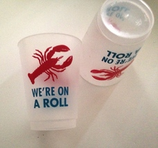 Lobster Cups We're On a Roll lobster bake beverage cup set of 10 - $9.99