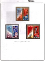 Russia Complete Set of 3 Colorful Stamps 1981 Cosmonautics Day  - $5.00