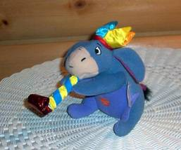 "Winnie Pooh Sweet Eeyore Plush 6"" with Squeeze Belly Party Horn & Hat - $6.59"
