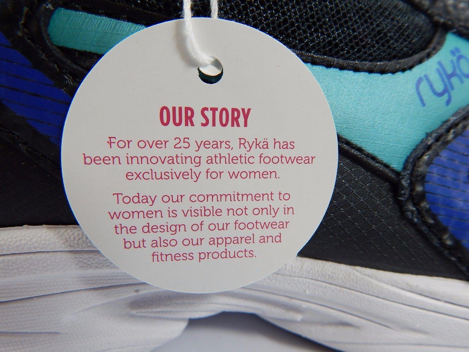 Ryka Streak SMR Women's Running Shoes Size US 8 M (B) EU 39 Black Aqua Blue