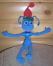 """Bug's Life Disney 15"""" Plush Blue Ant Flik Holiday Ready in Red & Green Cap - $9.99"""