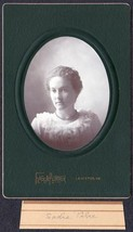 Sadie Pike Cabinet Photo - Lewiston / Farmington Maine ca. 1899 - $17.50