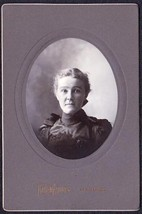 Una E. Brann Cabinet Photo - Augusta, Maine ca. 1899 - $17.50