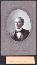 Moses Corliss Cabinet Photo - Lewiston / Farmington Maine ca. 1899 - $17.50