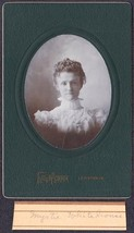 "Myrtle ""Myrtie"" Whitehouse Cabinet Photo Lewiston / Farmington Maine ca.... - $17.50"
