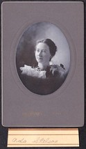 Ada Stilson Cabinet Photo - Lewiston / Farmington Maine ca. 1899 - $17.50