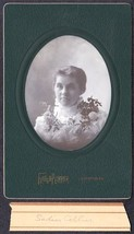 Sadie Collier Cabinet Photo - Lewiston / Farmington Maine ca. 1899 - $17.50