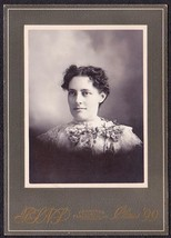 Lillian T. Peaslee Cabinet Photo - Richmond, Maine (1899) - $17.50