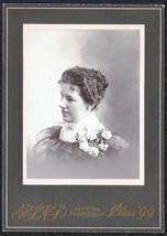 Isabelle M. Towle Cabinet Photo - Belfast, Maine (1899) - $17.50