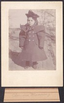 Clarence Manering / Mainwaring Cabinet Photo of Child - Maine ca. 1899 - $17.50