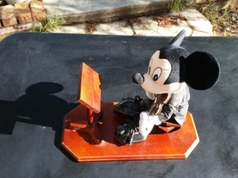 Mickey Mouse Plush Playing Violin with Music Stand on wood Stand - $49.99