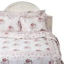 SIMPLY SHABBY CHIC PINK RED MAYBERRY ROSE STANDARD PILLOW SHAM NWT HARD ... - $35.00