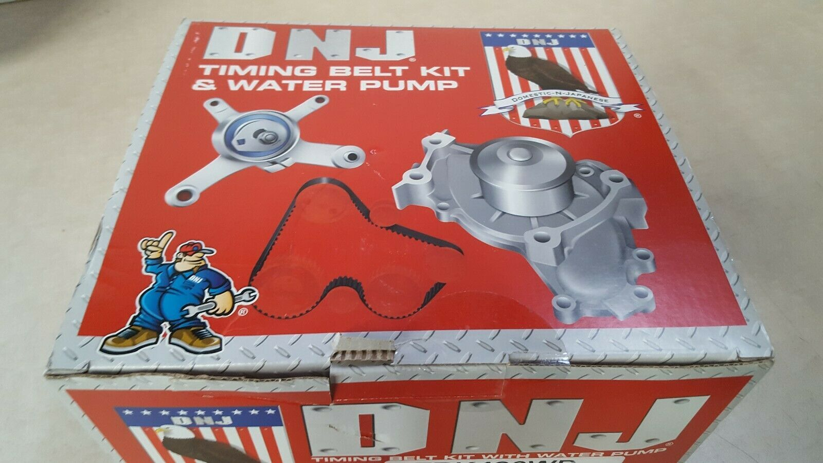 DNJ TBK490WP Timing Belt Kit With Water Pump