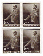 1939 Hitler Day of National Labor Block of 4 Postage Stamps Catalog B140 MNH