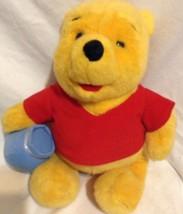 1994 Winnie the Pooh Teddy Bear With Honey Pot Honeypot Stuffed Animal P... - $18.57