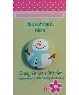 Snowman Blue Scarf Needleminder fabric cross st... - $7.00