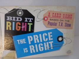 BID IT RIGHT The Price Is Right Original Card Game 1964 Milton Bradley Complete  - $14.01