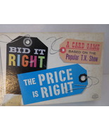 BID IT RIGHT The Price Is Right Original Card Game 1964 Milton Bradley C... - $14.01