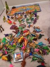 HUGE LOT 100+ Pretend Play Hard PLASTIC Toy DIN... - $98.95