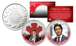 JUSTIN TRUDEAU Royal Canadian Mint Medallions 2-Coin Set  Canadian Prime... - $10.95