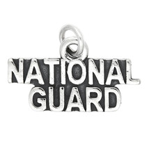 Sterling Silver National Guard Charm Pendant - $10.21