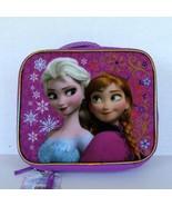 Disney Movie Frozen Elsa Anna Lunchbox School Lunch Box Insulated Glitter  - $9.89