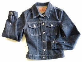 NEW Vintage GUESS Jeans Womens Black Denim NOS Jacket Size S MADE IN USA... - $54.70