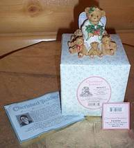 Cherished Teddies CAROLINE Figurine Heaven Stars Glitter Wings Angel wit... - $11.99