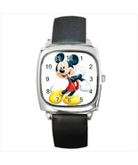 Mickey Mouse Round & Square Leather Strap Watch - $11.99