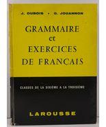 Grammaire et Exercices de Francais Classes de la Sixieme a la Troisieme - $14.99
