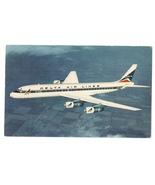 Douglas DC-8 Fanjet Aircraft Delta Air Lines Vintage Aviation Postcard A... - $4.99