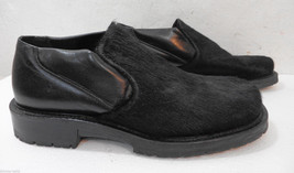 8 Bacco Bucci in Black Italy Shoes Hair Made Calf Mens Loafers 77Wr4AS