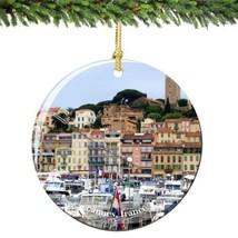 Cannes France Christmas Ornament Porcelain - $15.83