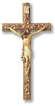 Tomaso Wood & Resin Ornate 13 Inch Wall Crucifix - $34.95