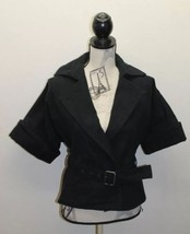 MNG Mango Women Jacket Pea Robe Cropped Style Jacket Faux Buttons Hole X... - $38.44