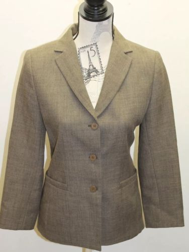 Zara Fall Winter Women Blazer Olive Green 3 Buttons Lined Made In Spain