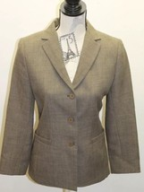 Zara Fall Winter Women Blazer Olive Green 3 Buttons Lined Made In Spain - $34.57