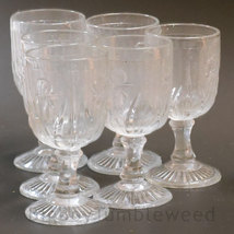 Vintage 7pc Clear Jeannette glass Iris and Herr... - $25.99