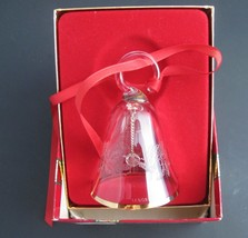 Lenox Crystal 1985 Holly  miniature bell ornament Hand blown Made in USA  - $23.13