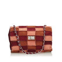 Authentic Chanel Brown Reissue Patchwork Suede Flap Bag France - $896.64