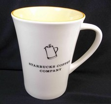 Starbucks Percolator coffee mug white with yellow interior 2006 12 oz - $9.70