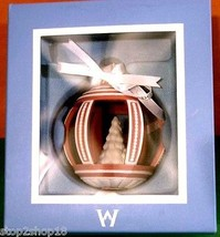 Wedgwood Jasperware Holiday Tree Ornament Round Red/White Cut Out New Rare! - $79.90