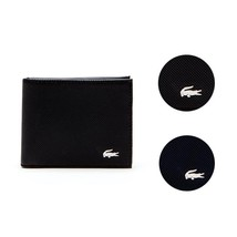 Men's Lacoste Slim Leather Credit Card Holder ID Slot Tricolor Accents NH2099ED image 1