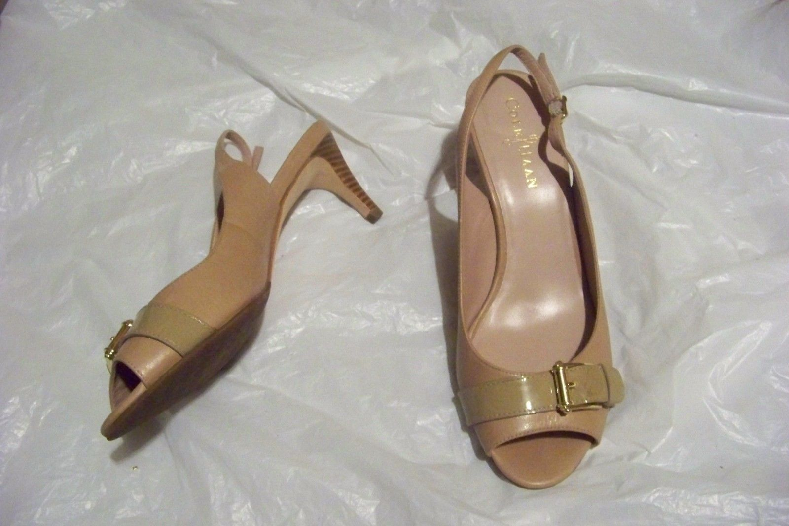 63deb98b968f womens cole haan nike air tan open toe slingback heels shoes size 7