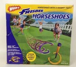 Wham-o Frisbee Horseshoes w 2 Stakes and 4 Big Horseshoes 1998 90s Summe... - $31.14