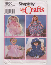 """Simplicity 8960 DOLL CLOTHES 12-14"""", 16-18"""", 20-22"""" 4 Outfits - Uncut/ New - $6.00"""