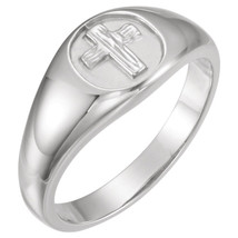 Sterling Silver The Rugged Cross® Chastity Ring - $89.99+