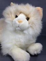 """Fiesta Persian Cat Plush Lying 16"""" Fluffy Sandy White Stuffed Himalayan ... - $49.99"""