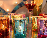 Colorful Glass Cup Candle Stick Candle Holder Candelabra Romantic Home Wedding