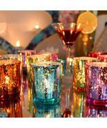 Colorful Glass Cup Candle Stick Candle Holder Candelabra Romantic Home W... - $11.88